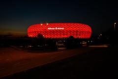 Allianz Arena München (Dannis van der Heiden) Tags: allianzarena stadion football fcbayern münchen germany deutschland outside evening lights sky bluehour nikond750 d750 tokina1628mmf28