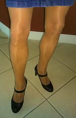 Leggs Sheer Energy Active Support (Terri James) Tags: crossdresser crossdress crossdressing cd pantyhose phose transvestite tights tv sheer sheerenergy suntan skirt hose legs leggs