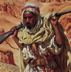 The Hunter by Etienne Dinet, 1902 (skaradogan) Tags: orientalism orientalisme painting algeria algerie north africa maghreb peinture