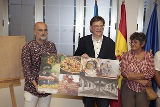 El president de la Generalitat, Ximo Puig, realiza una visita institucional a Jesús Pobre y, posteriormente, asiste al acto de presentación de 'L'escaldà de la pansa' como Bien de Interés Cultural Inmaterial. (10/08/2018)