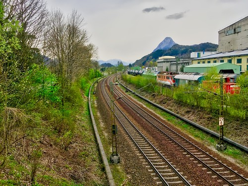 Railway tracks in Kiefersfelden, Bavaria