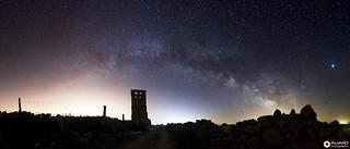 Vía Láctea sobre la Iglesia de Jumela