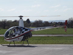 G-WINR Robinson R22 Helicopter Heli Air Ltd (Aircaft @ Gloucestershire Airport By James) Tags: gloucestershire airport gwinr robinson r22 helicopter heli air ltd egbj james lloyds