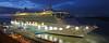 Night alongside. (MSGS4) Tags: royalcaribbean brillianceoftheseas liner cruise vessel cork cobh ireland harbour water blue river alongside