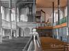 Innenraum der Peitzer Kirche, Orgelseite, um 1940 und 2018 (FKnorr) Tags: peitz kirche evangelisch innenraum bildmontage altneu orgel lausitz brandenburg deutschland