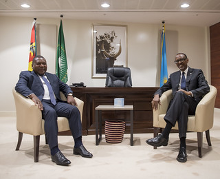 President Kagame hosts a State Banquet in honour of President Filipe Nyusi of Mozambique  Kigali, 19 July 2018