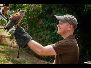 Stuart with a Kestrel