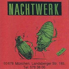 Strapazin / Aufkleber (micky the pixel) Tags: werbung anzeige inserat advertisement aufkleber sticker strapazin magazin grafik kunst art comicart käfer bug tanz dance club nachtwerk münchen
