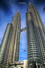 The Petronas Towers (Kuala Lumpur- Malaysia) (Muhammad Habib Photography) Tags: skyscraper kualalumpur malaysia habib hbeebz hbb hdr muhammadhabib muhammadhabibphotography traveler travel building architectural canon tamron vacations petronas
