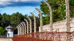 Memorial place Sachsenhausen (II) (Elenovela) Tags: konzentrationslager concentrationcamp sachsenhausen oranienburg mauer wall stacheldraht barbwire wachturm watchtower dof panasonicgh5 olympus75mmf18 elenovela karstenmüller