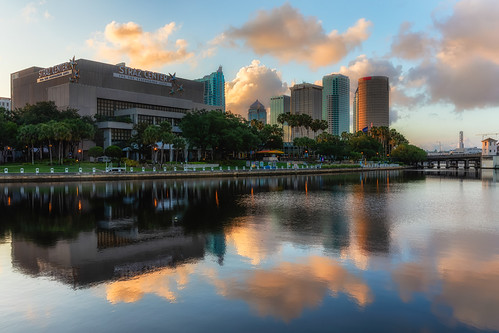 Tampa Sunrise Reflection from Julian Lane Park