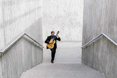 Vahur Kubja, a classical guitarist (Rait_Tuulas) Tags: portrait musician guitarist eesti estonia tallinn concrete gray