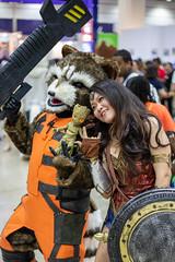 Rocket Raccoon and Wonder Woman (@nmachell) Tags: comic con 2018 comiccon seoul rocket wonder woman groot raccoon wonderwoman