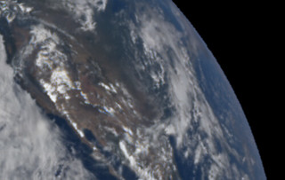 Fires in California from One Million Miles Away