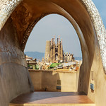 View of Sagrada Familia from Casa Milà