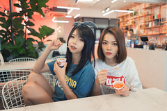 EreneVivi 17 ([EPIX Production]) Tags: beautiful young girl school student pretty casual street ice cream frozen fashion dress