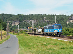 ČD Cargo 383 008 (jvr440) Tags: trein train spoorwegen railroad railways čd české dráhy siemens vectron kurort rathen cargo