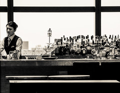 Preparation (sapphire_rouge) Tags: カレッタ汐留 東京 shiodome skyscraper tokyo bar bartender lady restaurant
