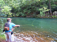 55 foot long Roll Cast (r_green54) Tags: troutfishing smithriverva flyfishing nature henrycova