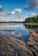 Vigdarvatnet, Sveio - Norway (Vest der ute) Tags: xt20 norway water waterscape landscape lake rocks trees sky clouds reflections bluesky summer fav25 fav200