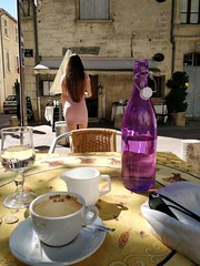 The Table (acwills2014) Tags: french pavement cafe pavementcafe coffee ambiance attractive mademoiselle shapely shade shadows relax water bottle purple tabletop laprovende avignon rue du limas coffeetime enjoyingacoffee theprettygirl