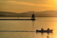 Sunset, Burlington Breakwater Lighthouse (ap0013) Tags: lighthouse burlingtonbreakwater lakechamplain burlingtonvermont sun sunset silhouette vt vermont burlington breakwater