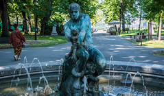 2018 - Serbia - Belgrade - Kalemegdan Park - The Fisherman (Ted's photos - For Me & You) Tags: 2018 belgrade cropped nikon nikond750 nikonfx serbia tedmcgrath tedsphotos vignetting unfortunatefisherman unfortunatefishermankalemegdanpark kalemegdanpark kalemegdan park belgradeserbia fountain bronzesculpture bronzestatue bronze snake simeonroksandic kalemegdanparkbelgrade