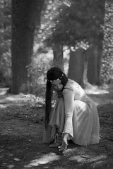 Nymph In The Woods (Haydon L. Hall) Tags: portrait environmental beautiful mystical steampunk blackwhite bw girl people photoshoot life model posing inspirational beauty portraiture pose photogenic emotional theme cosplay