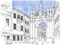 Braga, 2018 (gerard michel) Tags: portugal braga porte sketch croquis architecture