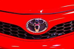 Red Like My Baby's Toyota (Thomas Hawk) Tags: cobocenter cobohall detroit fordnaias michigan naias naias2012 northamericaninternationalautoshow northamericaninternationalautoshow2012 toyota usa unitedstates unitedstatesofamerica autoshow emblem fav10