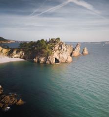 Breton Island (ThibaultPoriel) Tags: bretagne île island îlevierge crozon presquîledecrozon finistère france travel voyage discover flying sea water seascape sky nobody scenic noperson beach saint hernot