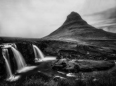 Kirkjufel in 'Black n White', Iceland (S.A.W. Pixels) Tags: artistic amazing arts black white canon art iceland dramatic dark darkclouds drama excellent exposure exciting explore explored exposed flickr greatphotographers interesting impressive landscape landscapes outdoor observing outside overcast picture panaromic photo syedaliwarda sky mountain ocean water waterfalls rock waterfall grass kirkjufell moutain west