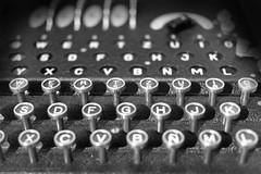 Enigma (ithyrsus) Tags: nikon nikond5200 d5200 affinityphoto enigma codification wwii blackwhite blackandwhite blancoynegro bnw bw object history historia