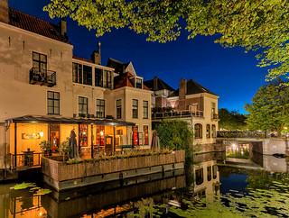 Café Hathor, The Hague, on a starry night