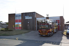 DSC_8693 (matthewleggott) Tags: humberside fire rescue service engine appliance exercise holme hall east riding yorkshire care home yj13goa scania angloco bronto alp aerial ladder platform market weighton