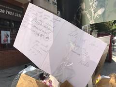 Kilburn (Steve Bowbrick) Tags: tribute murder killing london kilburnhighroad flowers