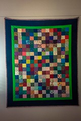 The wonderful decorations through the home all told a story.  This wonderful quilt was proudly displayed.