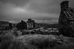 Rhos Quarry, Capel Curig (Rogpow) Tags: capelcurig rhosquarry slatequarry wales moelsiabod quarry slate buildings historicbuilding mono monochrome bnw blackandwhite bw whiteandblack snowdonia barracks weighhouse fujifilm fuji fujixpro2 industrialhistory industrialarchaeology industrial industry derelict decay dilapidated disused ruin abandoned moody desolate brooding clouds