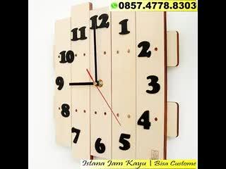 WA 0857.4778.8303, Jual Jam Dinding Musik, Jual Jam Dinding Kayu