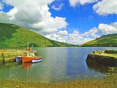 Irlande, un petit port bien abrité dans les terres (Roger-11-Narbonne) Tags: irlande océan