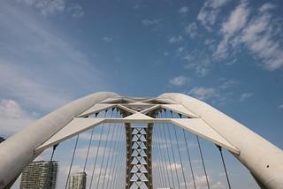 The Humber Bay Arch Bridge,Toronto