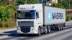 AA73429 (16.09.14, Marselis Boulevard, Kongsvang Allé)DSC_5351_Balancer (Lav Ulv) Tags: 215668 sulatransport white daf marselisboulevard xf105 dafxf 105460 e5 euro5 6x2 container maersk 2013 truck truckphoto truckspotter traffic trafik verkehr cabover street road strasse vej commercialvehicles erhvervskøretøjer danmark denmark dänemark danishhauliers danskefirmaer danskevognmænd vehicle køretøj aarhus lkw lastbil lastvogn camion vehicule coe danemark danimarca lorry autocarra danoise trækker hauler zugmaschine tractorunit tractor artic articulated semi sattelzug auflieger trailer sattelschlepper vogntog