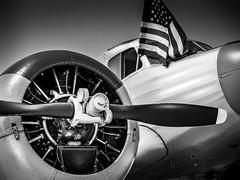 Cessna UC-78 Bobcat (f.albertowilson) Tags: airshow aviation offutt omaha planes cessna bobcat uc78 airplane propeller plane flag engine radialengine panasonic lumix g85 14140mm