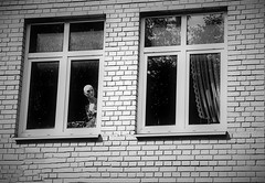 Glance through the window (haidem3) Tags: architecture widow building manequin watching