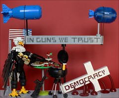 We're all living in Amerika (...The Chosen One...) Tags: lego moc america amerika usa independence day democracy freedom war hiroshima nagasaki grill food bbq bald eagle guns blood stereotypes
