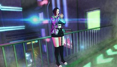 One of Us (ZexyQueen) Tags: secondlife sl slfashion slstyle newinsl whattowear slphotography scifi neon overdrive paparazzi equal10 westsideposes westside peachesncream moonhair moon cc hollymill n21 misschelsea vale koer