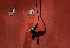 .........? (Toledo 22) Tags: work handwerker red minimalistic simple minimalistisch rot shades shadow urbanwall city vintage urban mauer wand wall