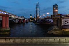London   |   Between Blackfriars Bridges (JB_1984) Tags: bridge blackfriarsbridge blackfriarsstation river thames riverthames tower skyscraper embankment evening bluehour blackfriars cityoflondon london uk unitedkingdom nikon d500 nikond500