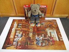 That's a lot of books! (pefkosmad) Tags: jigsaw puzzle vintage complete hobby leisure pastime secondhand used jumbo johannhamza inthelibrary libraryscene tedricstudmuffin teddy bear ted animal toy cute cuddly plush fluffy soft stuffed