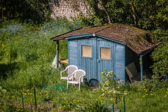 """textures and colours of allotment heaven in Honfleur - just sit here and soak up the sun and the buzz of the bees - Normandy, Calvados, France (grumpybaldprof) Tags: honfleur normandy normandie france calvados """"routeadolphemarais"""" allotment shed chairs wild grasses restful garden shack colour texture """"fineart"""" ethereal striking artistic interpretation impressionist stylistic style colours colourful bright flowers canon 70d """"canon70d"""" tamron 16300 16300mm """"tamron16300mmf3563diiivcpzdb016"""""""